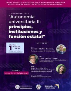 Conversatorio - Autonomía universitaria II: principios, instituciones y función estatal